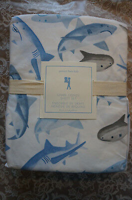 Nwt Pottery Barn Kids Shark Frenzy Sheet Set Twin Brand