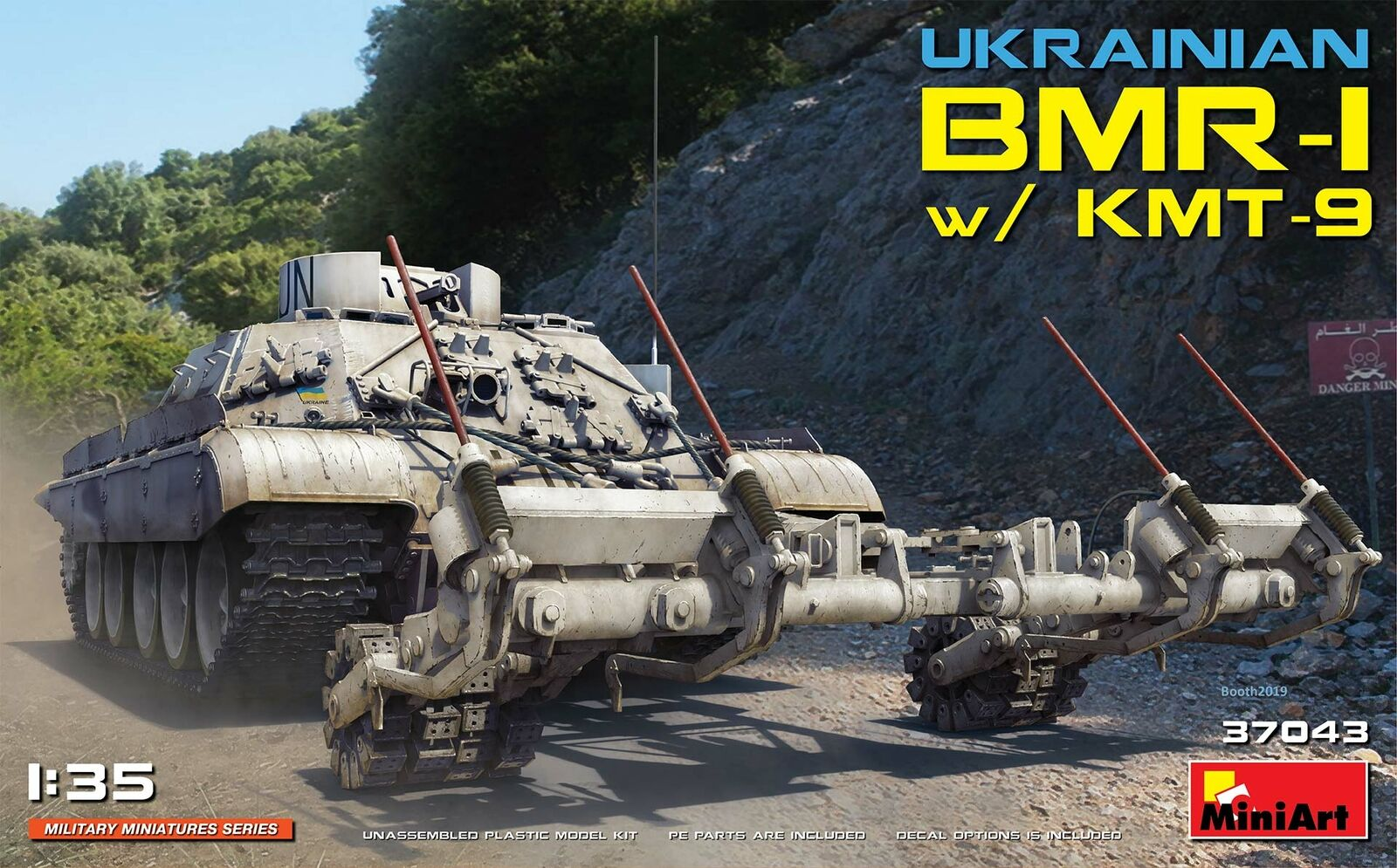 Miniart 1/35 Ucraino Bmr-1 With Kmt-9 #37043