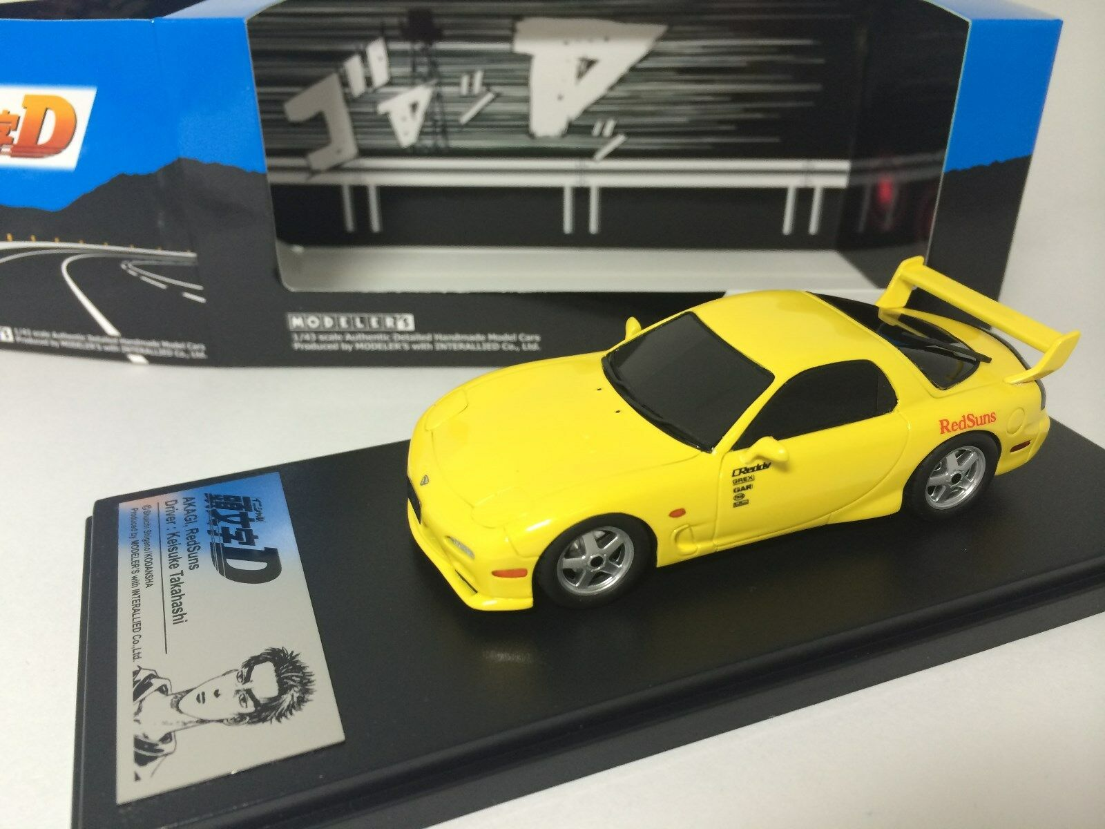 1 43 Hi-Story Modeler's Mazda RX-7 FD3S Initial D Yellow