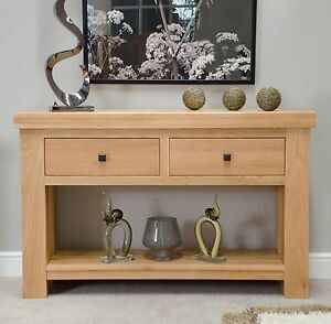 Image Is Loading Phoenix Solid Oak Hallway Furniture Console Hall Table