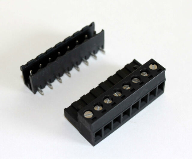 Quick Connect Terminal Block Set, 8 pin Screw Terminals 10 Amps
