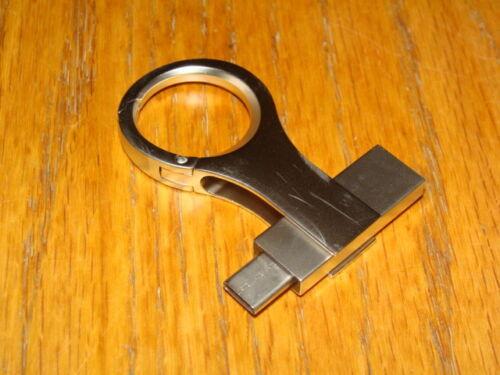 CARABINER FLASH DRIVE 16GB USB-A USB-C KEY CHAIN BACKPACK BELT LOOP CLIP ON