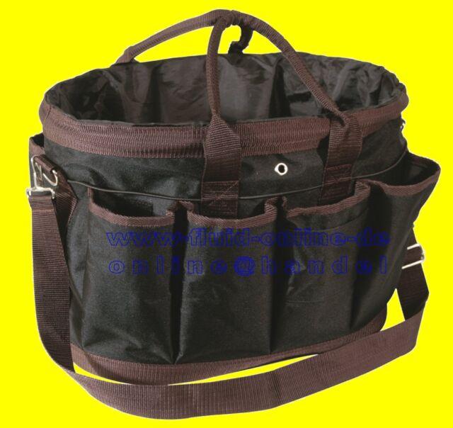 PFIFF 100657-62 Putztasche Pferdeputztasche Putzbeutel groß schwarz braun - NEU