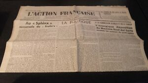 Journal Nationalist L Action Figure French 27 Mars 1934 N° 86 ABE