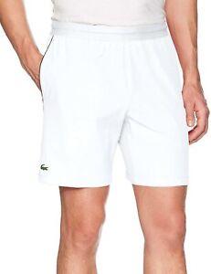 Lacoste-Mens-Novak-Djokovic-Stretch-Taffeta-7-034-Tennis-Shorts-White