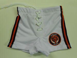 NOS '80's Spanjian Chicago Bears Football Shorts Size Youth Medium USA Rare!