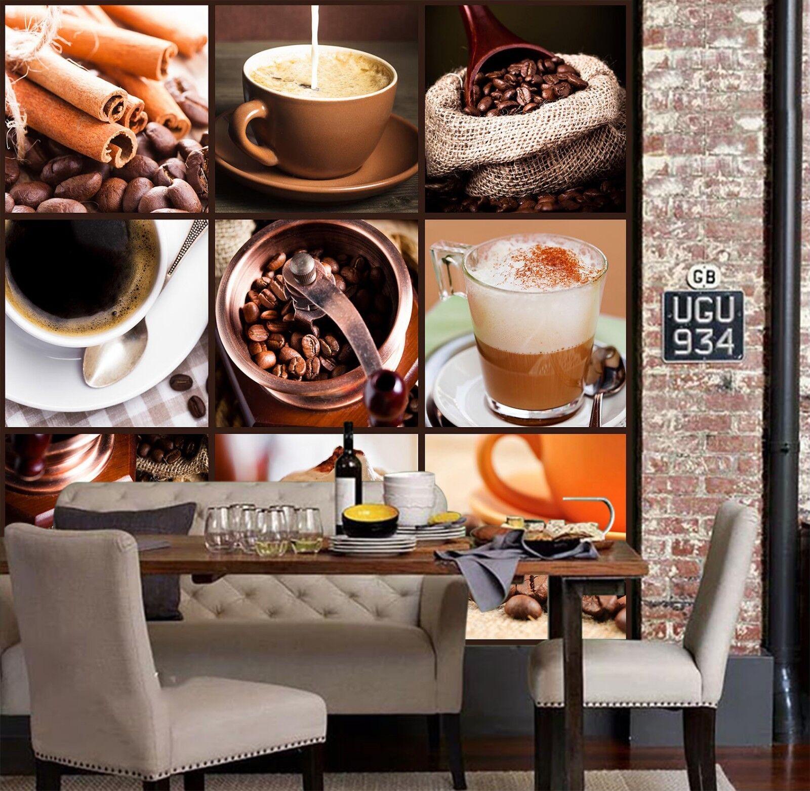 3D Coffee Drink 7186 Wallpaper Mural Wall Print Wall Wallpaper Murals US Lemon
