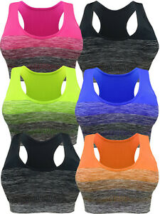 3-6-PACK-SPORTS-BRA-RACERBACK-ACTIVE-WEAR-YOGA-TOP-SEAMLESS-SPANDEX-FREE-SIZE