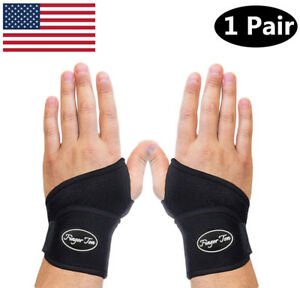 Wrist-Brace-Pair-Carpel-Tunnel-Arthritis-Pain-Relieve-Left-And-Right-US-Stock