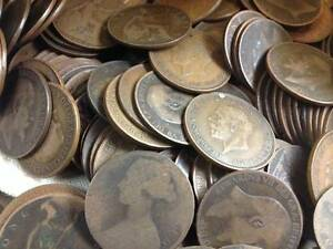 BULK-ENGLISH-OLD-PENNY-COINS-CHOOSE-HOW-MANY-FROM-1860-TO-1967