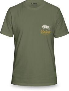 New-2019-Dakine-Mens-Full-Boar-Short-Sleeve-Tee-Shirt-Large-Army-Green
