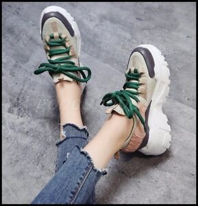 Hot-Fashion-Womens-Round-Toe-Lace-Up-Creepers-Hidden-Wedge-Platform-Casual-Shoes