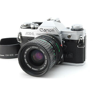 【EXC++++】Canon AE-1 W/ CANON ZOOM LENS FD 35-70mm f/3.5-4.5 from Japan N1237