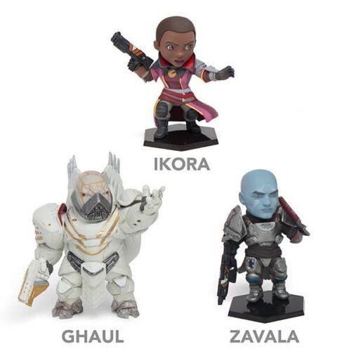 Destiny 2 GHAUL ZAVALA IKORA 4-inch Figures Set Bungie Lot 3x Promo New NIB