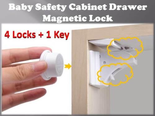 Magnétique Tiroir Meuble Cuisine Armoire Serrure Loquet Enfant//bébé Toddler sécurité -