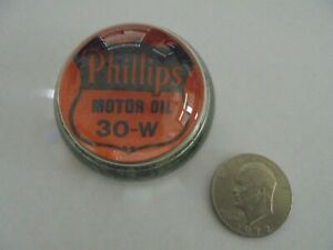 Phillips 66 Motor Oil Dealer Glass Paperweight.......Very Old