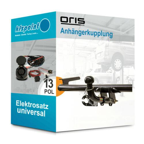 Für Opel Corsa C Combo 01 13polig E-Satz neu ORIS Anhängerkupplung abnehmbar