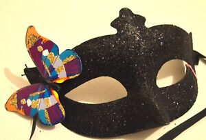 NEW Gold glitter and butterfly Masquerade Mask Eye Prom Gothic halloween