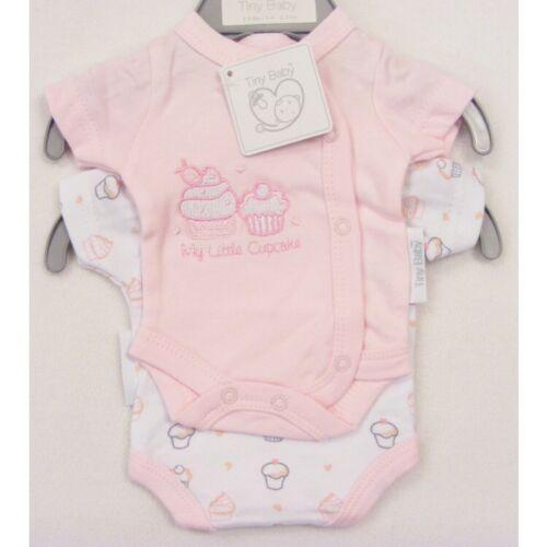 Cupcake Design in PInk Premature//Tiny Baby Vests