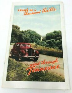 Details about Vintage 30s-40s Tennessee travel booklet brochure fishing  road trip history