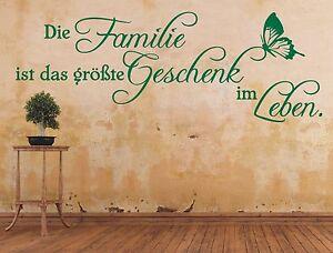 X3-Wandtattoo-Spruch-Die-Familie-ist-das-groesste-Geschenk-Leben-Wandaufkleber