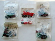 5 SETS OF MINI MODEL SETS, RENAULT TONNEAU, PARIS VIENNA, LION PEUGEOT, MERCEDES