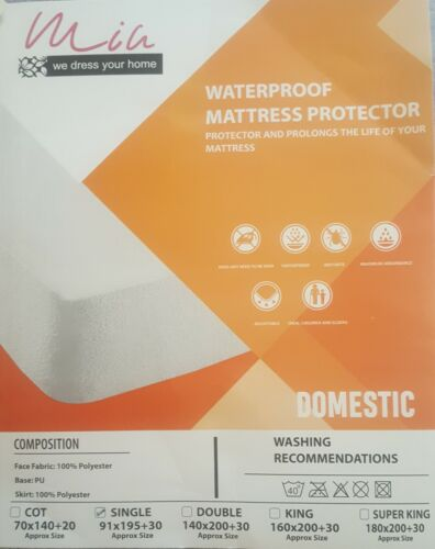 Waterproof Terry Towel Mattress Protector Fitted Sheet Cover Single,Double,King,