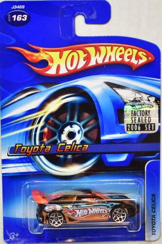 Hot Wheels 2006 Toyota Celica #163 Schwarz Fabrik Verpackt