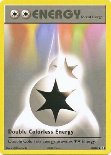 Uncommon NM Pokemon XY Evolutions 3x Double Colorless Energy 90//108