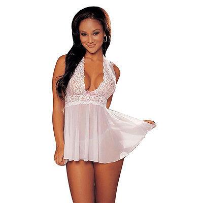 Lenceria Sexy, Intima Lenceria Mujer Sexy, Color Blanco, Conjunto + Tanga Una Gamma Completa Di Specifiche