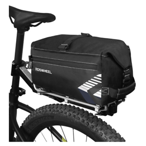 ROSWHEEL Adjustable Cycling Bag 6L Bike Rear Rack Trunk Bag Bicycle Luggage Bag