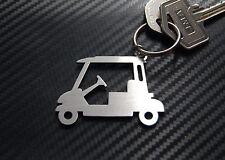 GOLF BUGGY Cart Golfer Course Keyring Keychain Key Bespoke Stainless Steel Gift