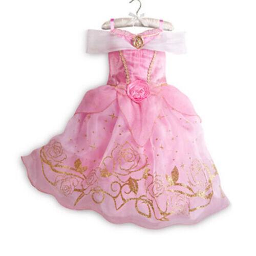 Kids Girls Princess Costume Fairytale Dress Up Girls Fancy Dress Princess Dress~