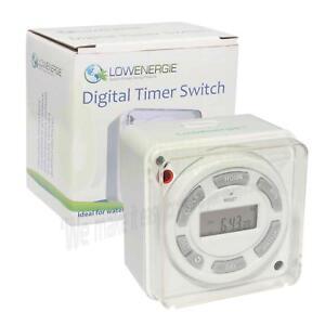 Grosses Soldes Lowenergie Digital Eau Thermoplongeur Minuterie 7 Jour Programmable, Commutateur 16 A-afficher Le Titre D'origine
