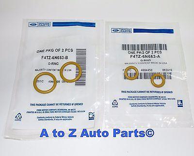1994-2003 Ford 7.3L Powerstroke Diesel Turbo Pedestal Yellow O-Ring Gaskets OEM