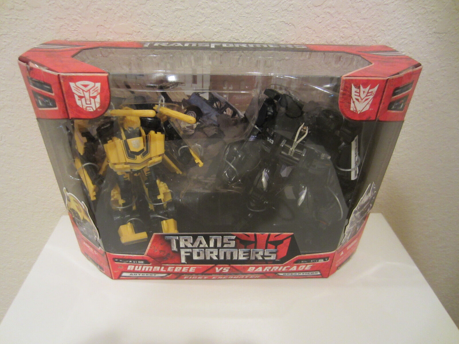 Transformers 2007 movie first encounter Bumblebee vs Barrie box set Comme neuf dans boîte scellée NEUF