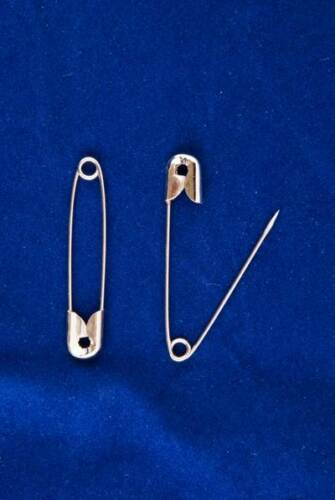 Large Safety Pins 57mm Size 5 Safety Pins in Silver Qty 1440 10 Bags x 144