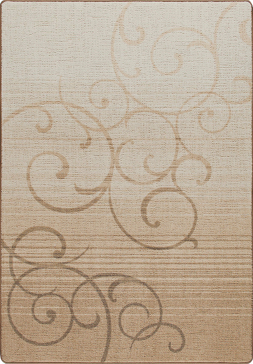 4x6 Milliken Whispering Whispering Whispering Clay Casual Scrolls Area Rug - Approx 3'10 x5'4  96d625