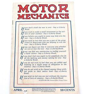 AMERICANA-RARE-APRIL-1918-MOTOR-MECHANICS-USA-MAGAZINE
