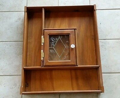 Solid Real Wood Wall Mounted Curio Cabinet With Glass Door