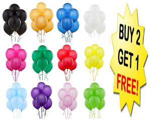 10-x-Latex-Plaine-Ballon-Ballons-Helium-Ballons-De-Qualite-Fete-Anniversaire-Mariage