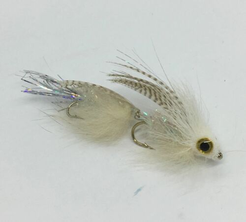 White - Drunk and Disorderly Six Articulated Streamer 6