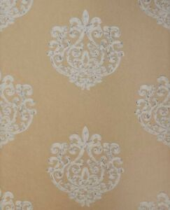 Details About 1 Dbl Roll Anna French Thibaut Arran Metallic Gold Damask Wallpaper 190 Retail