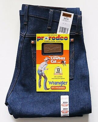 New Wrangler Cowboy Cut 13MWZ Original Fit Jeans Rigid Indigo Men's Sizes