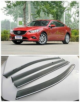 For Mazda 6 M6 Atenza 2014+ Window Wind Deflector Visor Rain/Sun Guard Vent