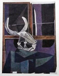 PICASSO-LITHO-PRINT-w-COA-Exclusive-1946-Vintage-Pablo-Picasso-Print-RARE-ART