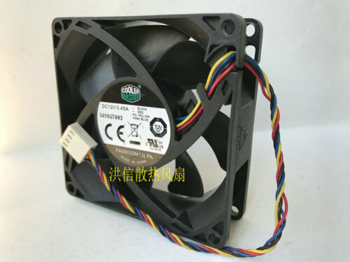 for Cooler Master FA08025M12LPA cooling fan 12V 80*80*25MM 4wire PWM #MB85 QL