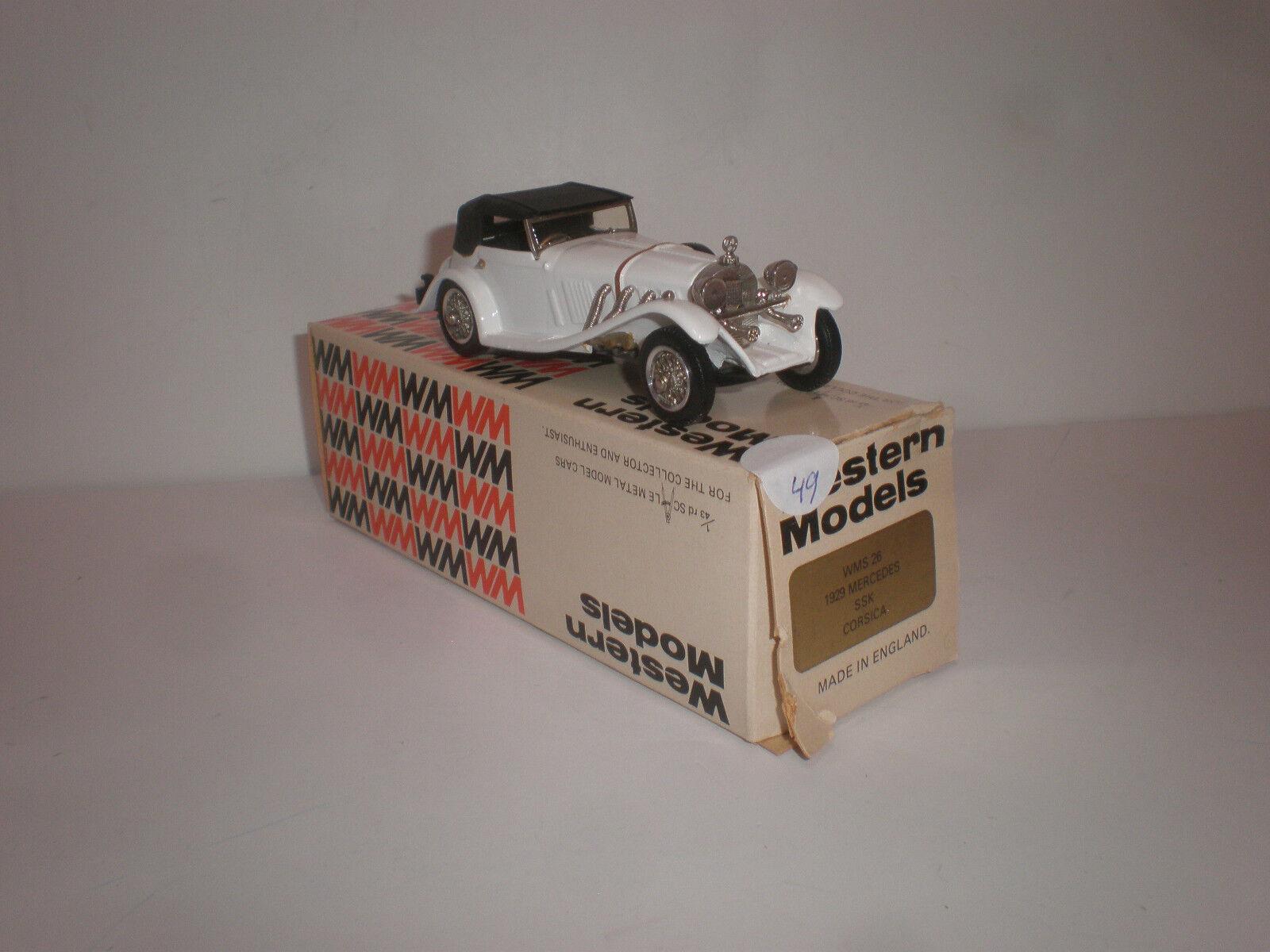 1 43 1929Mercedes Benz SSK Corsica  WMS 26  Western Models    handmade