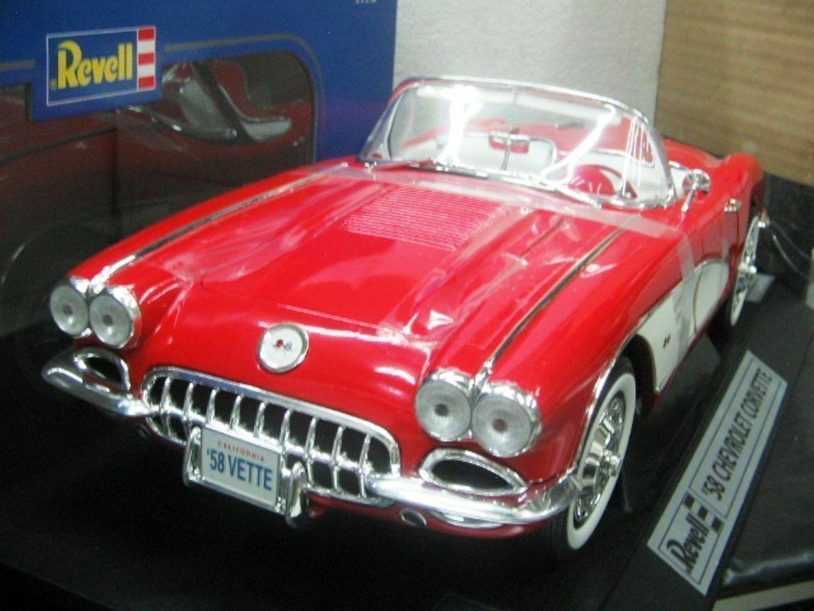 Wow extrêmement rare CHEVROLET CORVETTE ROADSTER HARD TOP 1958 rouge 1 12 REVELL-F40