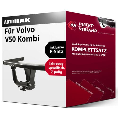 E-Satz 7pol Set top neu Anhängerkupplung starr Für V50 Kombi Typ MW Auto Hak